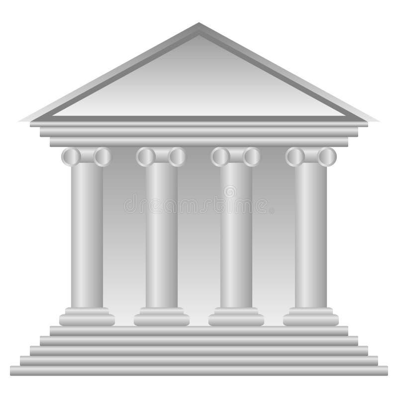 Εικονίδιο τράπεζας ελεύθερη απεικόνιση δικαιώματος