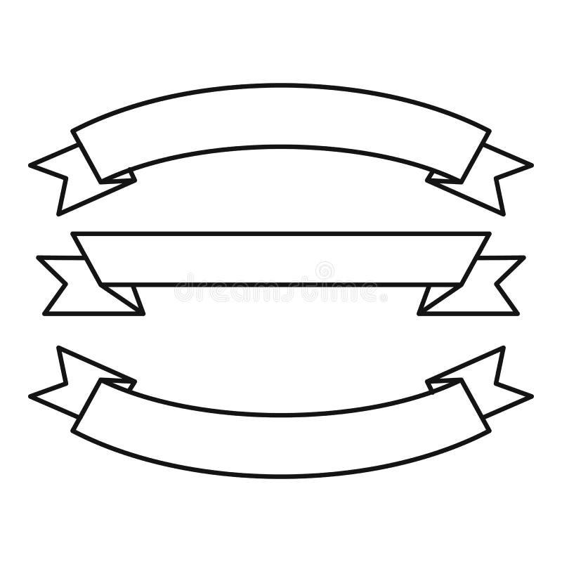 Εικονίδιο τριών κορδελλών, ύφος περιλήψεων ελεύθερη απεικόνιση δικαιώματος