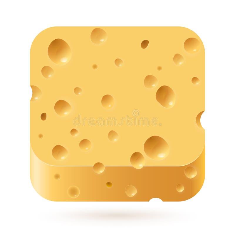 Εικονίδιο τυριών απεικόνιση αποθεμάτων