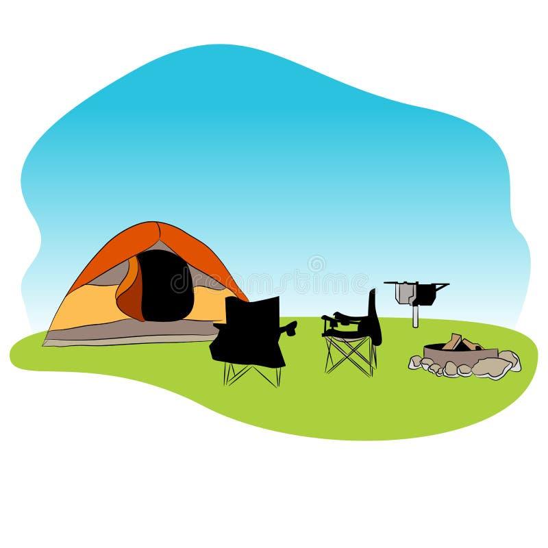 Εικονίδιο υποβάθρου Campground απεικόνιση αποθεμάτων