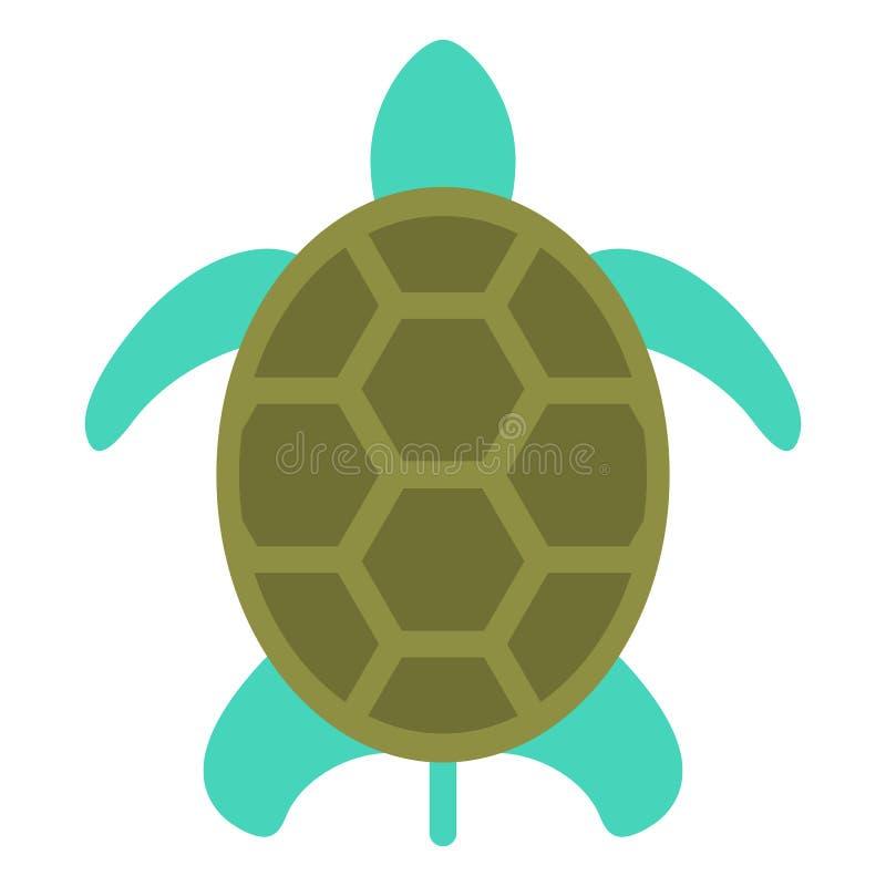 Εικονίδιο χελωνών που απομονώνεται στο άσπρο, επίπεδο ύφος ελεύθερη απεικόνιση δικαιώματος