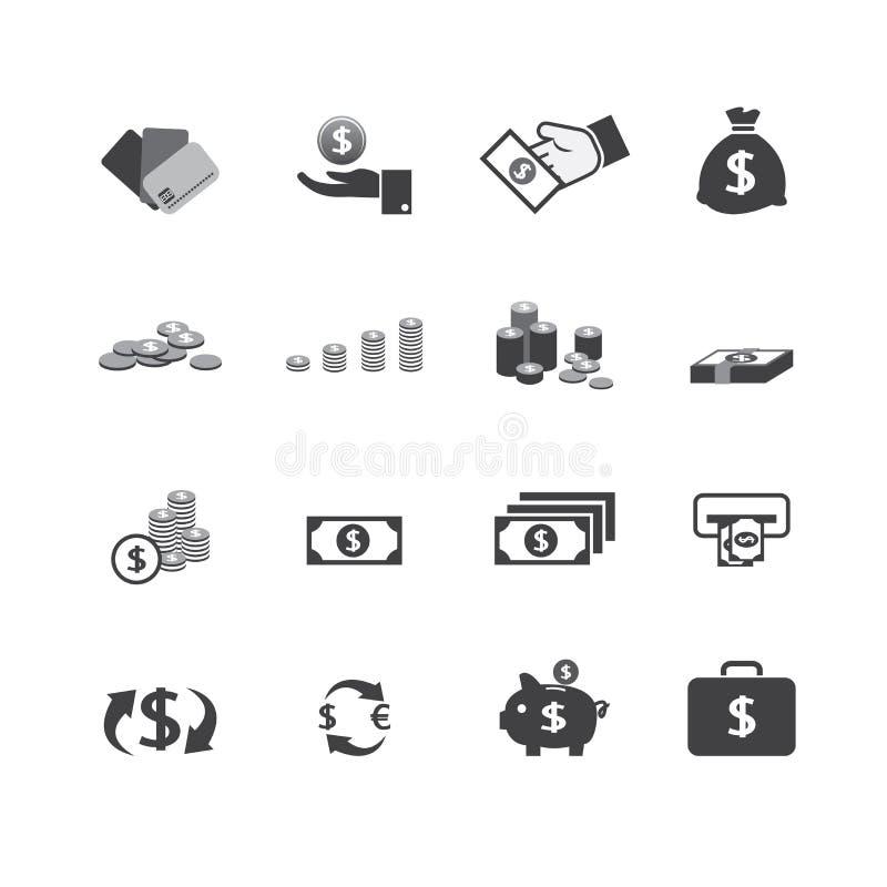 Εικονίδιο χρημάτων ελεύθερη απεικόνιση δικαιώματος