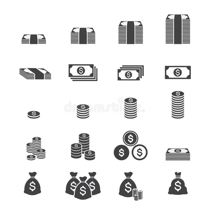 Εικονίδιο χρημάτων διανυσματική απεικόνιση