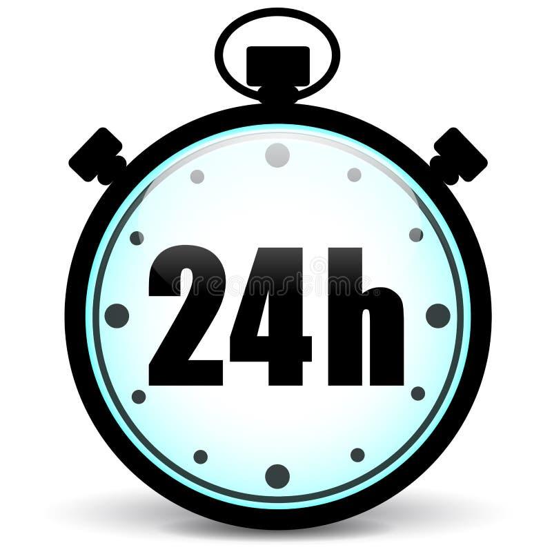 Εικονίδιο χρονομέτρων με διακόπτη 24h απεικόνιση αποθεμάτων