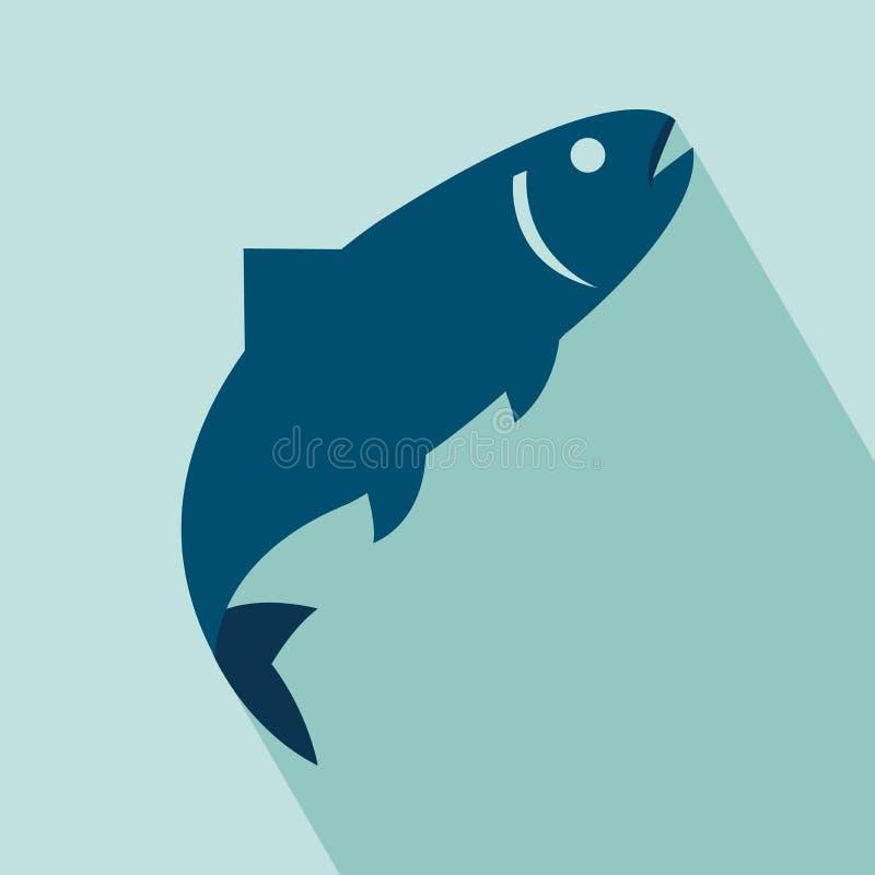 Εικονίδιο ψαριών διανυσματική απεικόνιση