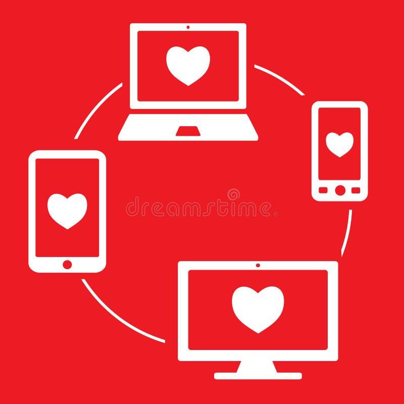 Εικονίδιο όλες οι συσκευές απαντητικές απεικόνιση αποθεμάτων
