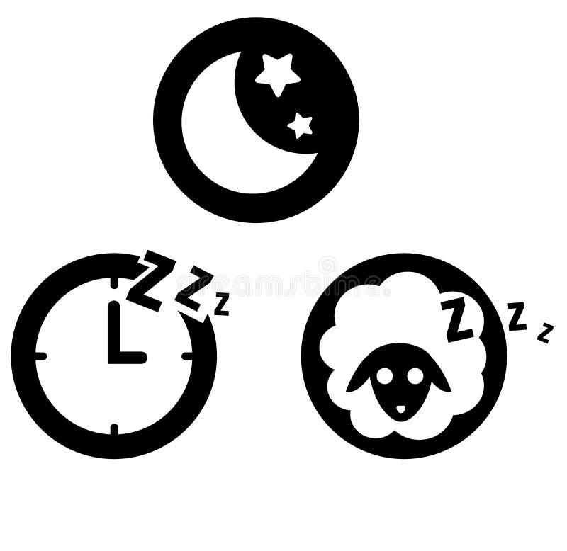 Εικονίδιο ύπνου διανυσματική απεικόνιση