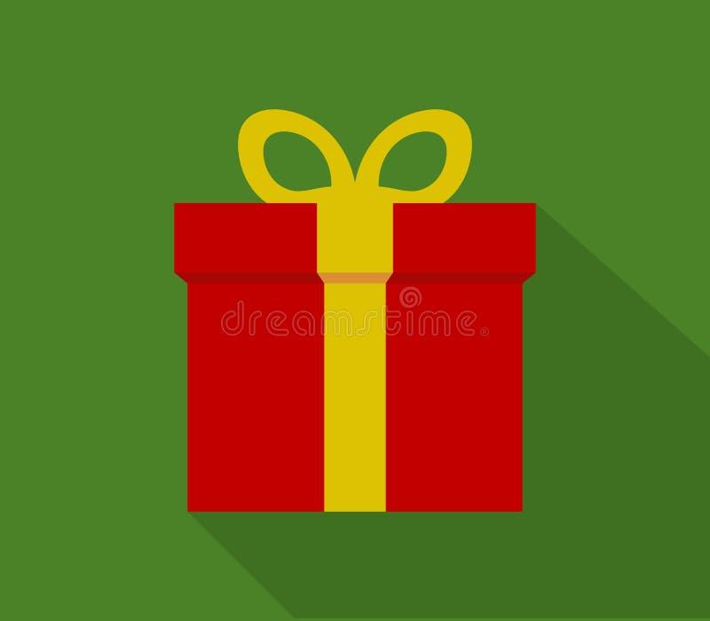 Εικονίδιο δώρων Χριστουγέννων που διευκρινίζεται απεικόνιση αποθεμάτων