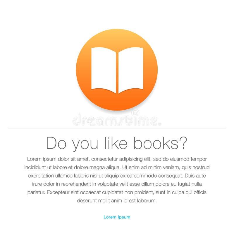 Εικονίδιο Ebook Σύμβολο EBook ελεύθερη απεικόνιση δικαιώματος