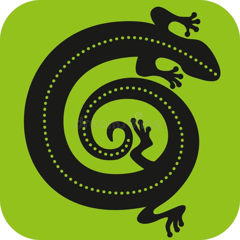 Εικονίδιο Gecko στοκ εικόνα