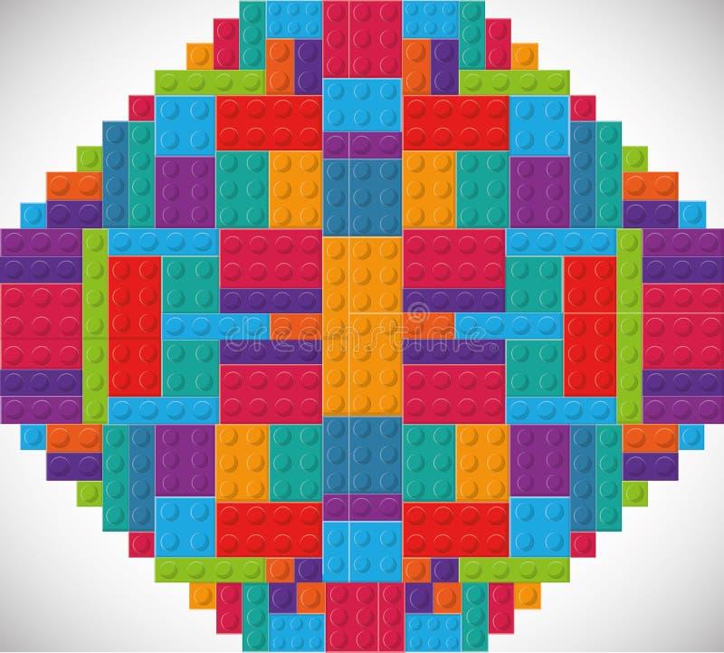 Εικονίδιο Lego Αφηρημένος αριθμός σαν διανυσματικά κύματα στροβίλου ανασκόπησης διακοσμητικά γραφικά τυποποιημένα ελεύθερη απεικόνιση δικαιώματος