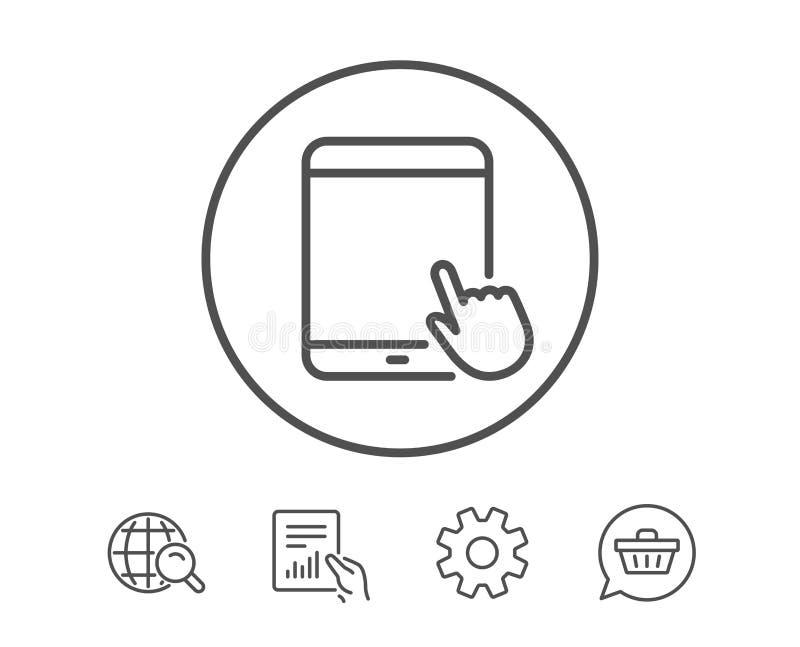 Εικονίδιο PC ταμπλετών Κινητό σημάδι συσκευών διανυσματική απεικόνιση