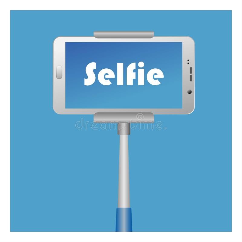 Εικονίδιο Selfie με το έξυπνο τηλεφωνικό τέλος monopod απεικόνιση αποθεμάτων