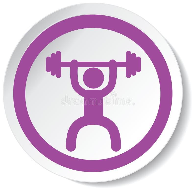 Εικονίδιο Weightlifter στοκ εικόνα με δικαίωμα ελεύθερης χρήσης