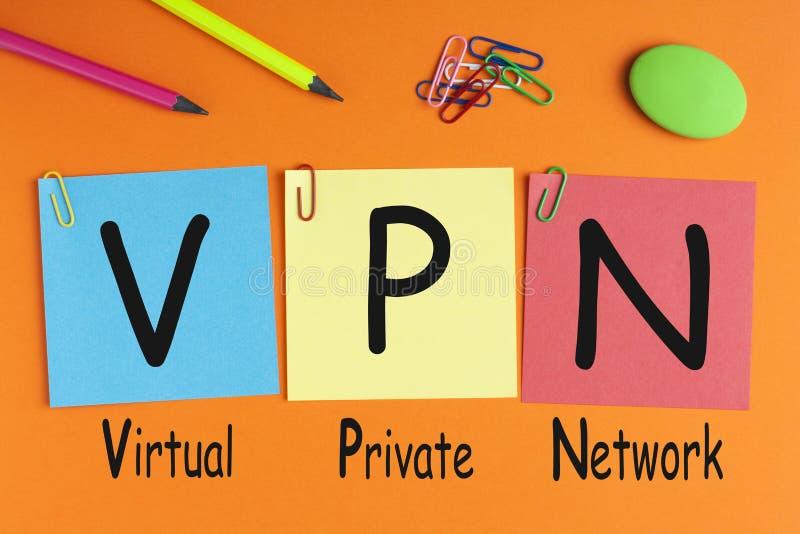Εικονική ιδιωτική έννοια δικτύων VPN στοκ φωτογραφία με δικαίωμα ελεύθερης χρήσης