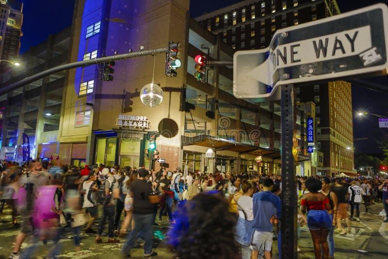 Εικονική παράσταση πόλης ένα σκηνής οδών της Ουάσιγκτον φεστιβάλ 2018 PVD τρόπος στοκ εικόνα