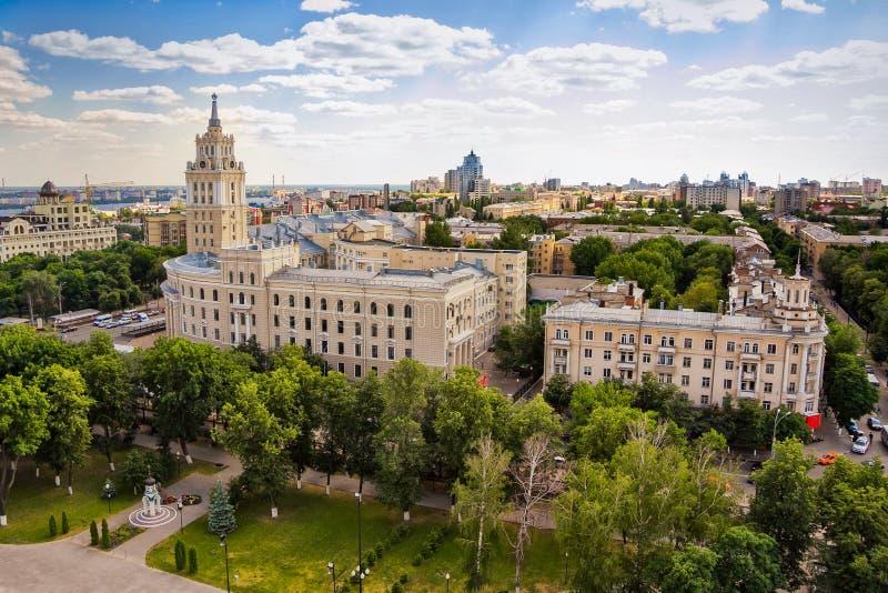 Εικονική παράσταση πόλης θερινής ημέρας Voronezh στοκ εικόνα