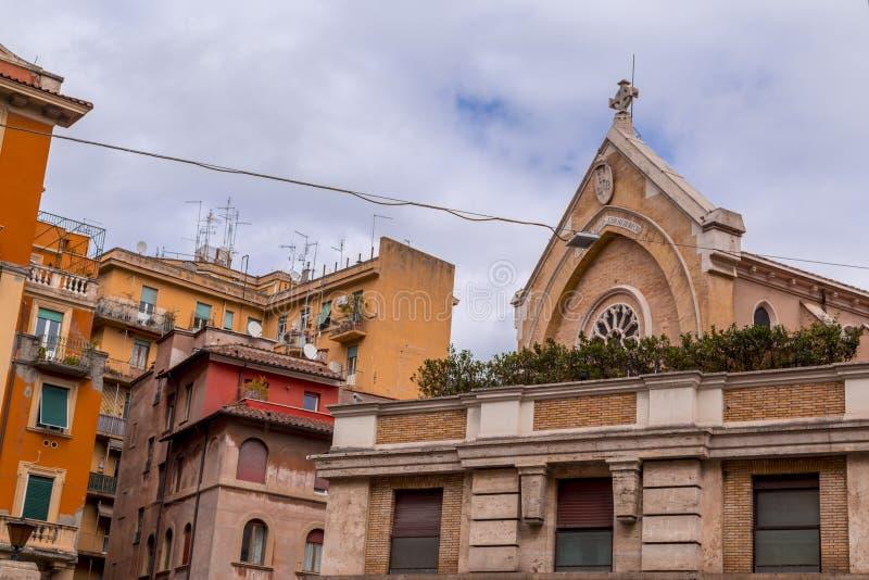 Εικονική παράσταση πόλης και γενική αρχιτεκτονική από τη Ρώμη, το ιταλικό κεφάλαιο στοκ φωτογραφία