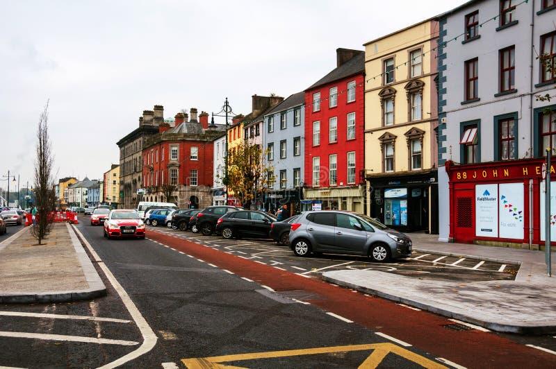 Εικονική παράσταση πόλης κατά τη διάρκεια της ημέρας Waterford, Ιρλανδία στοκ φωτογραφία με δικαίωμα ελεύθερης χρήσης