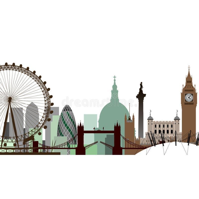εικονική παράσταση πόλης Λονδίνο ελεύθερη απεικόνιση δικαιώματος