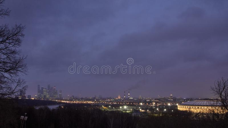 εικονική παράσταση πόλης Μ στοκ φωτογραφία