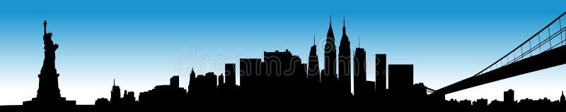 εικονική παράσταση πόλης Νέα Υόρκη απεικόνιση αποθεμάτων