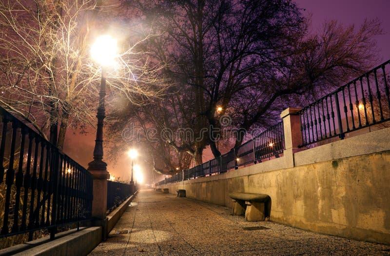 Εικονική παράσταση πόλης νύχτας στοκ φωτογραφία με δικαίωμα ελεύθερης χρήσης