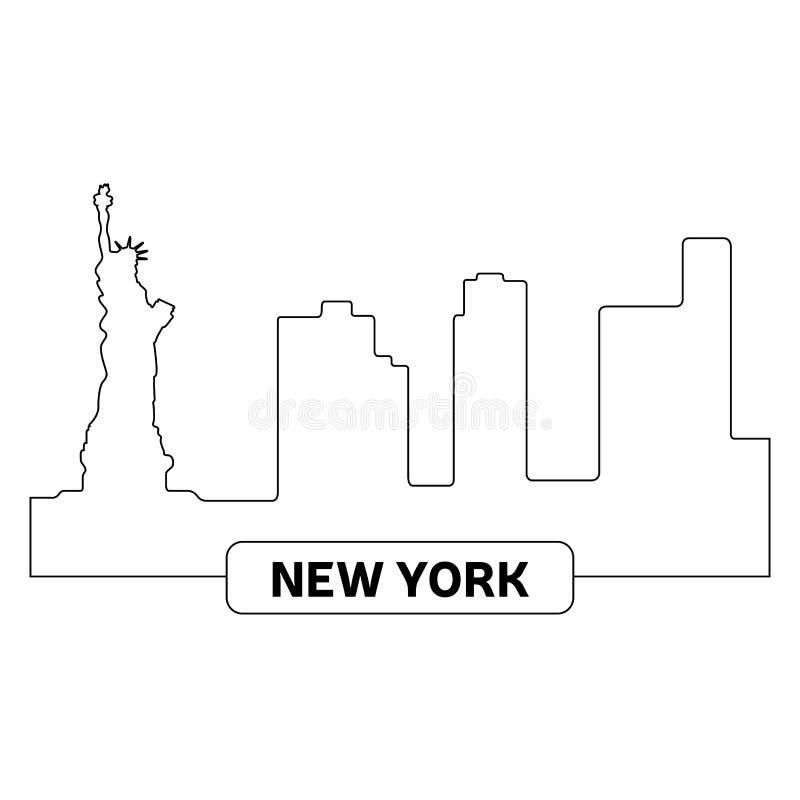 εικονική παράσταση πόλης Ν διανυσματική απεικόνιση