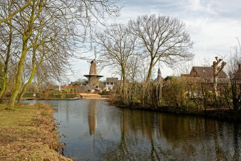 Εικονική παράσταση πόλης σε Ravenstein στις Κάτω Χώρες στοκ εικόνες
