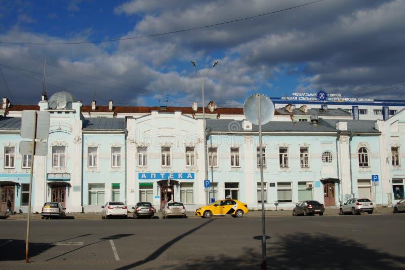 Εικονική παράσταση πόλης: τεμάχιο του σπιτιού 16 οδός Pushkin στοκ εικόνες με δικαίωμα ελεύθερης χρήσης