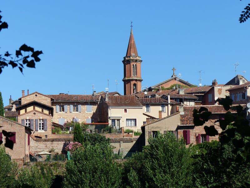 Εικονική παράσταση πόλης της επισκοπικής πόλης της Άλβης σημείο της Γαλλίας στοκ εικόνα με δικαίωμα ελεύθερης χρήσης