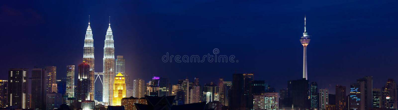Εικονική παράσταση πόλης της Κουάλα Λουμπούρ, Μαλαισία. στοκ εικόνες