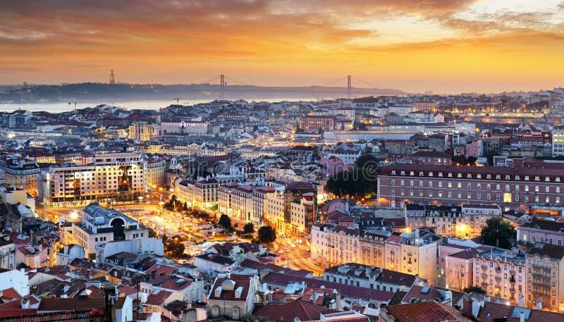 Εικονική παράσταση πόλης της Λισσαβώνας - της Λισσαβώνας, Πορτογαλία στοκ φωτογραφία