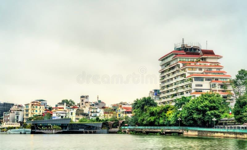 Εικονική παράσταση πόλης του Ανόι στη δυτική λίμνη, Βιετνάμ στοκ εικόνες με δικαίωμα ελεύθερης χρήσης