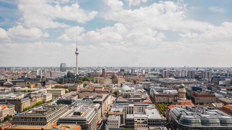 Εικονική παράσταση πόλης του Βερολίνου στοκ φωτογραφία