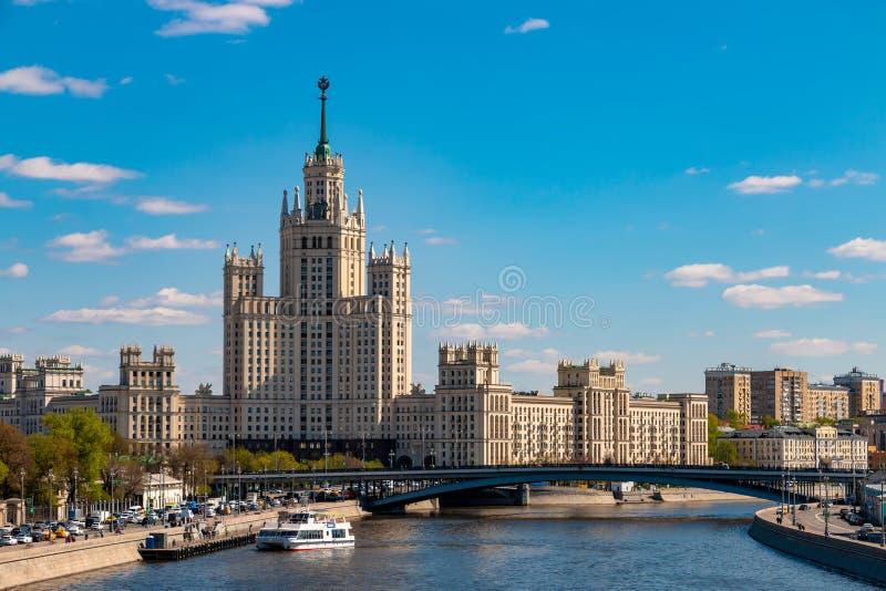 Εικονική παράσταση πόλης του κέντρου πόλεων της Μόσχας Θέες της Ρωσίας στοκ εικόνες