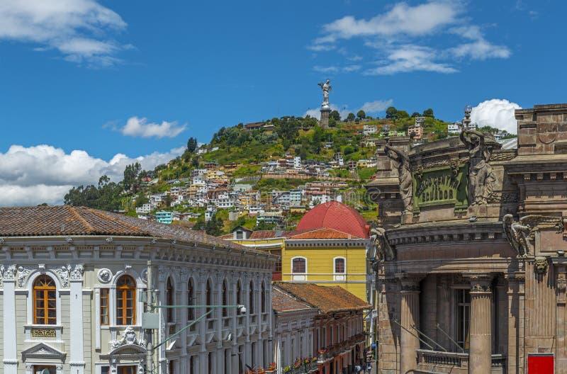 Εικονική παράσταση πόλης του Κουίτο το καλοκαίρι, Ισημερινός στοκ εικόνες
