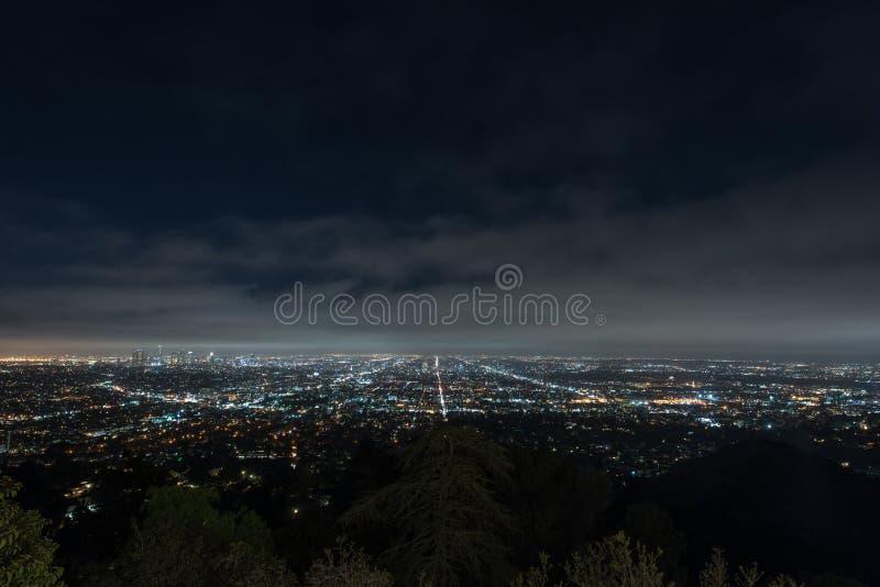 Εικονική παράσταση πόλης του Λος Άντζελες τη νύχτα στοκ εικόνες με δικαίωμα ελεύθερης χρήσης