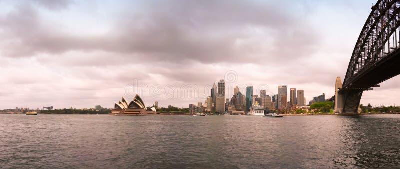 Εικονική παράσταση πόλης του Σύδνεϋ στοκ εικόνες με δικαίωμα ελεύθερης χρήσης