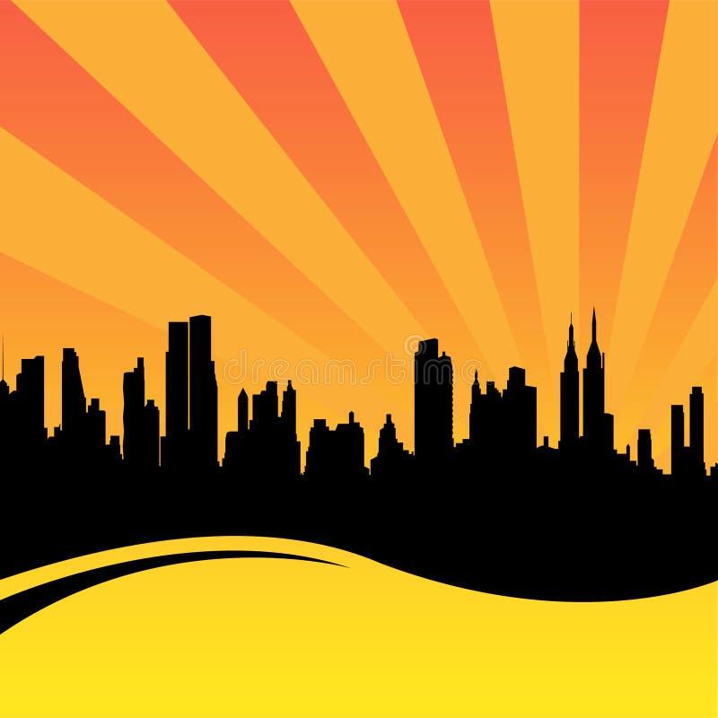 εικονική παράσταση πόλης ελεύθερη απεικόνιση δικαιώματος