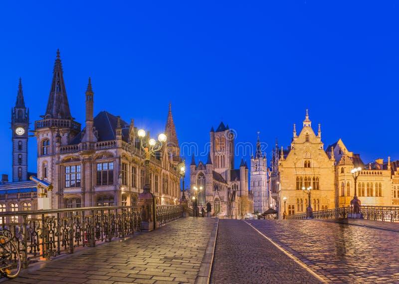 Εικονική παράσταση πόλης Gent - Βέλγιο στοκ εικόνες με δικαίωμα ελεύθερης χρήσης