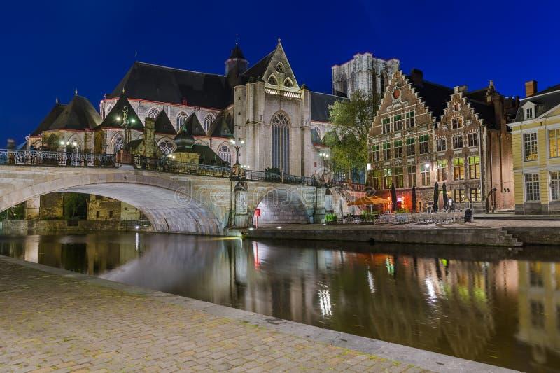 Εικονική παράσταση πόλης Gent - Βέλγιο στοκ φωτογραφία