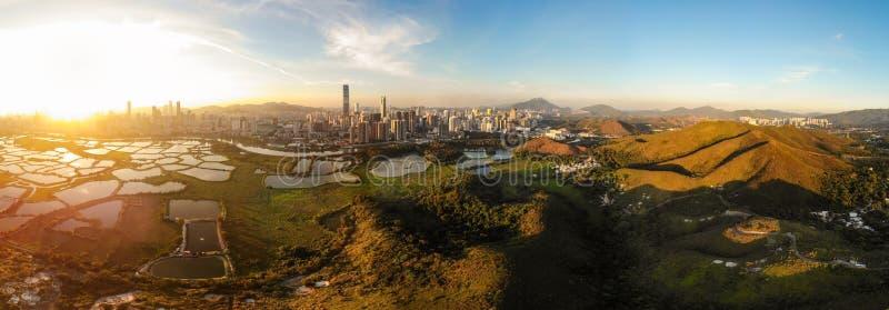 Εικονική παράσταση πόλης Shenzhen, Κίνα στοκ εικόνες