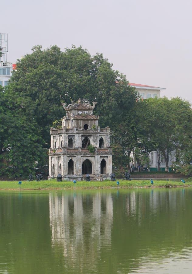 Εικονική παράσταση πόλης Ανόι Βιετνάμ λιμνών Kiem Hoan στοκ εικόνα