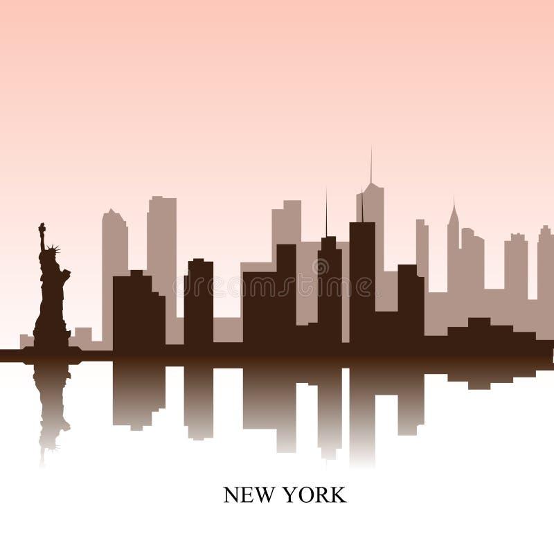 εικονική παράσταση πόλης Νέα Υόρκη ελεύθερη απεικόνιση δικαιώματος