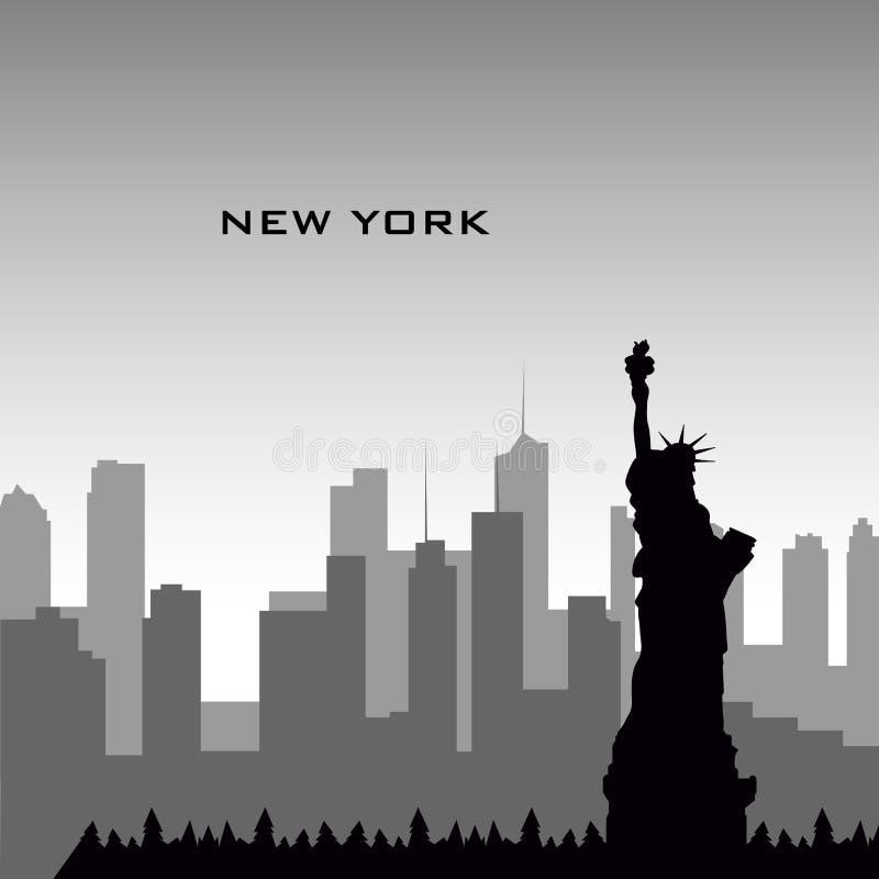 εικονική παράσταση πόλης Νέα Υόρκη διανυσματική απεικόνιση