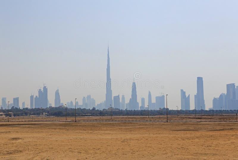 εικονική παράσταση πόλης Ντουμπάι στοκ φωτογραφίες με δικαίωμα ελεύθερης χρήσης