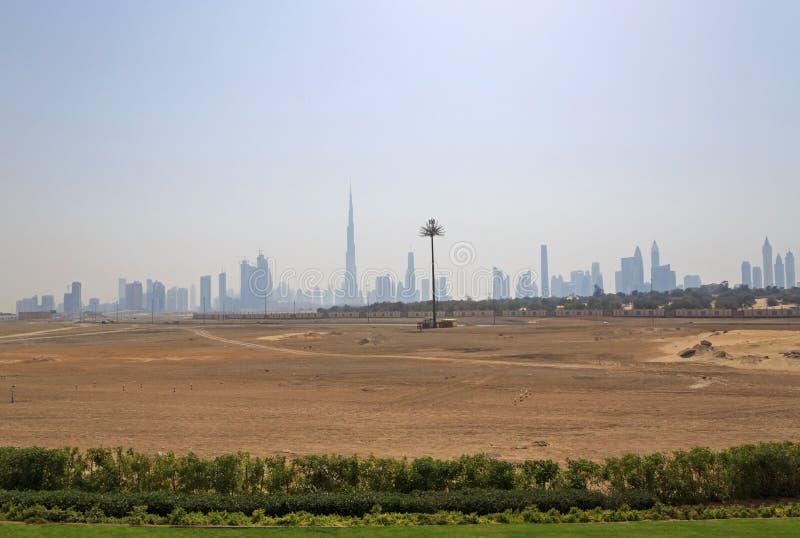 εικονική παράσταση πόλης Ντουμπάι στοκ εικόνες