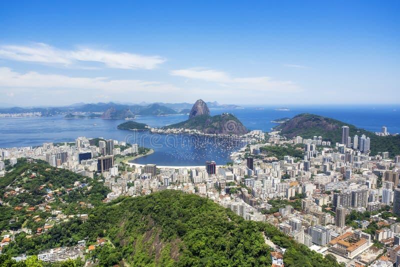 Εικονική παράσταση πόλης Ρίο ντε Τζανέιρο, Βραζιλία στοκ εικόνες με δικαίωμα ελεύθερης χρήσης