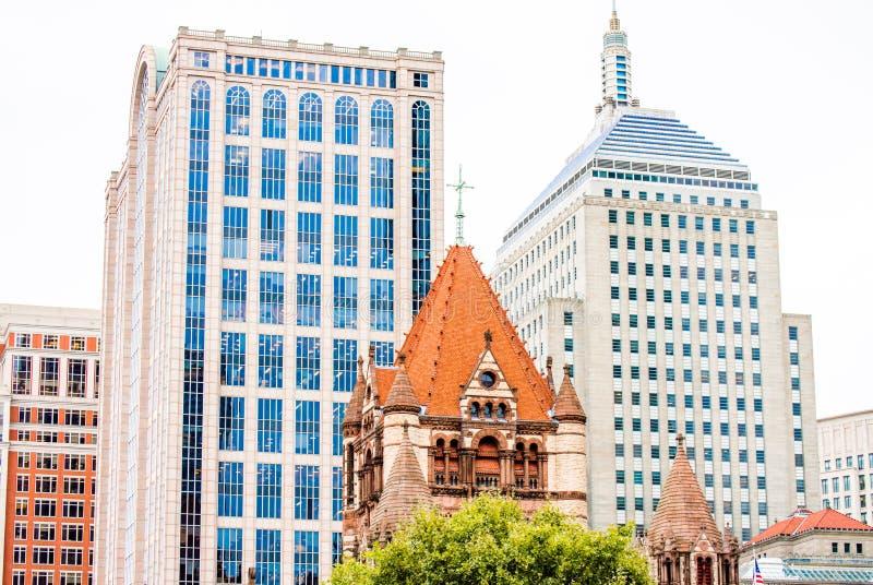 Εικονική παράσταση πόλης στη Βοστώνη στοκ εικόνες